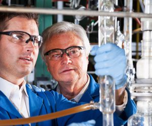 2 chemists working